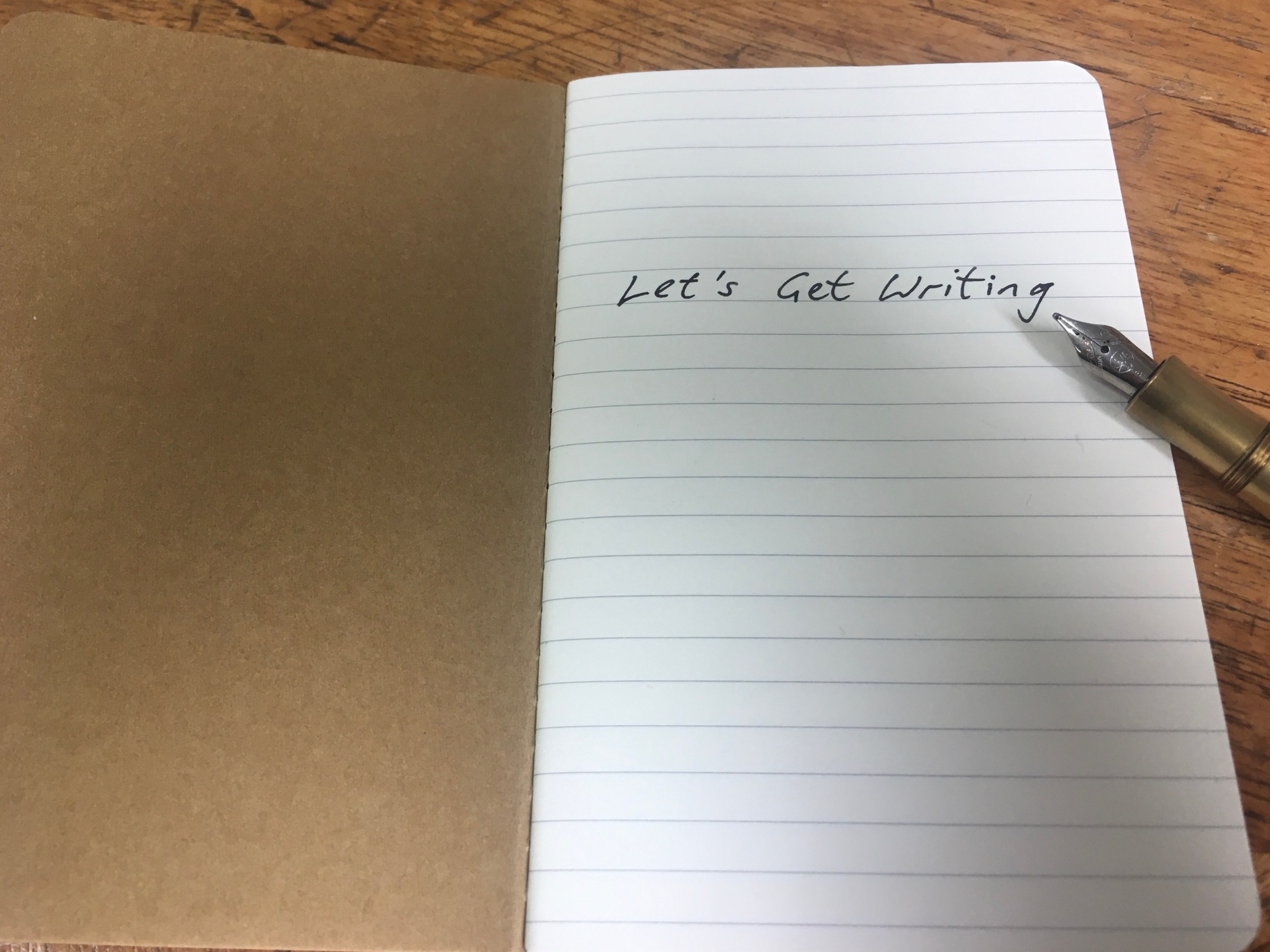 A title image for the 'Let's Get Writing' course