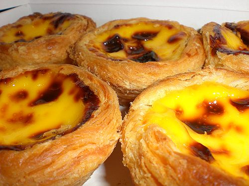 The famous Portuguese egg tart. Yummy!
