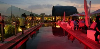 The swimming pool at Skye Bar | The Best Rooftop Bar In São Paulo: Skye Bar At Hotel Unique