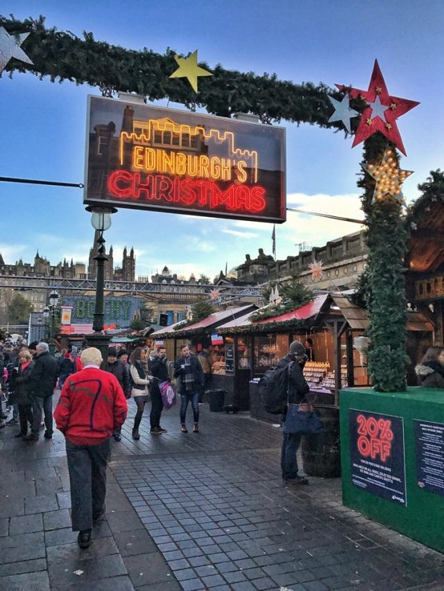 The entrance to the Christmas market - Edinburgh travel tips