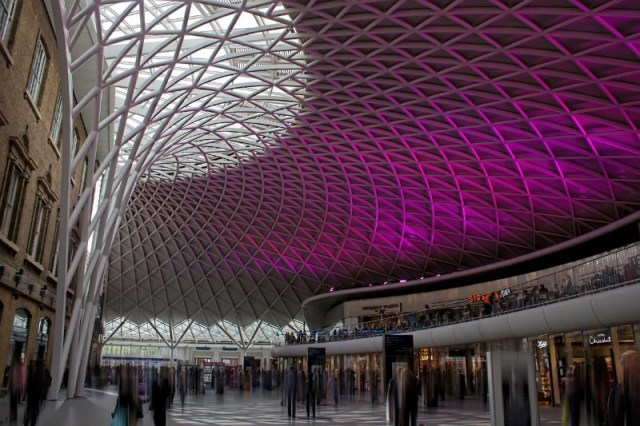 Writing while traveling in Kings Cross Station