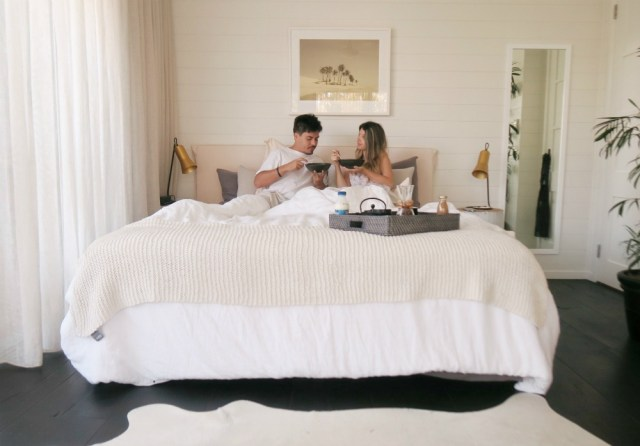 Boutique Byron Bay Accommodation: 28 Degrees Byron Bay Review - Breakfast in bed