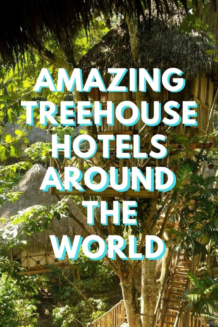 Get back to nature and immerse yourself in mother earths beauty by staying in one of these incredible treehouse hotels around the world (click through to see)