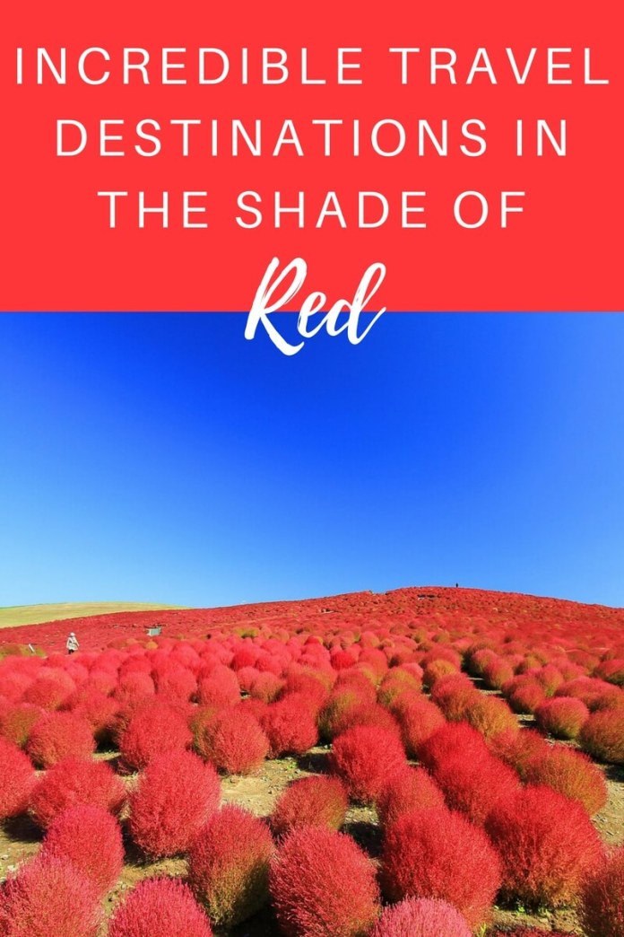 Red is the colour of passion, intensity, & love. In the first of our Shades of the World Series, we've listed 9 surreal travel attractions coloured in red. Click through to check them out...