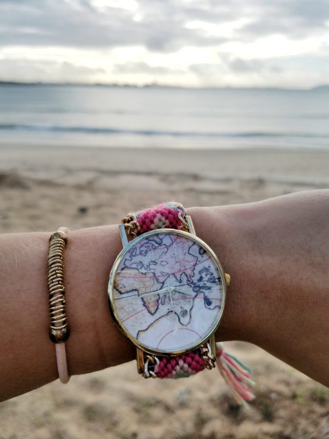 Beachcomber World Map Watch - Summer Travel Gifts For Female Travelers
