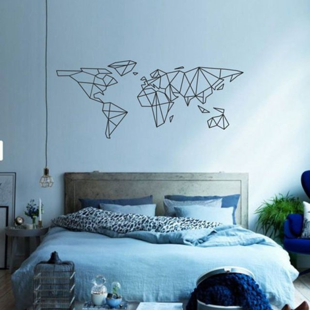 Geo World Map Wall Sticker - Summer Travel Gifts For Female Travelers