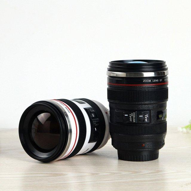 Mugshot Camera Lens Travel Mug - Summer Travel Gifts For Female Travelers