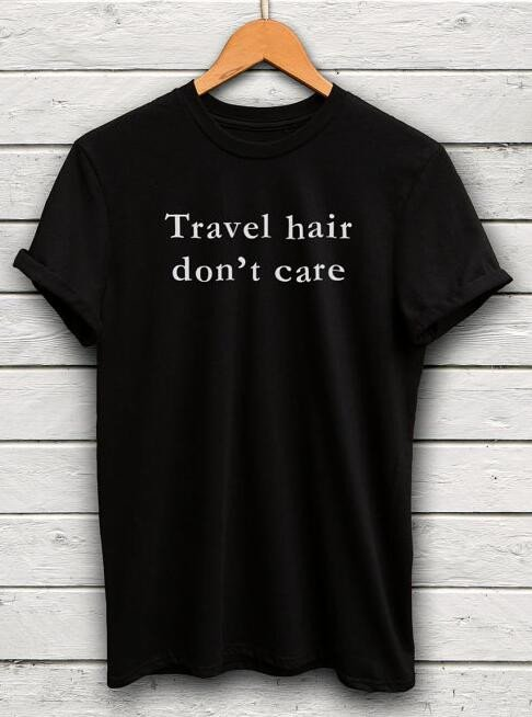 Travel Hair Don't Care Women's Tee - Summer Travel Gifts For Female Travelers