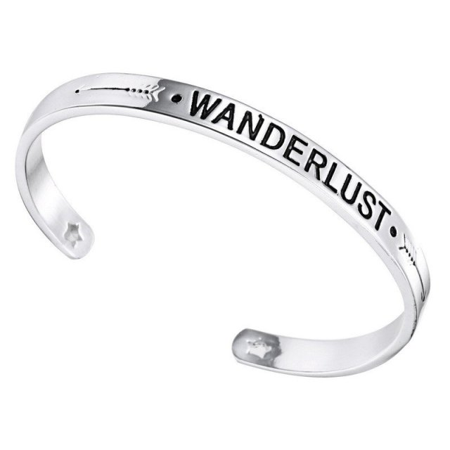 Wanderlust Bangle - Summer Travel Gifts For Female Travelers