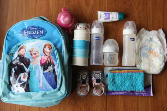 Traveling with a baby: Carry-on bags