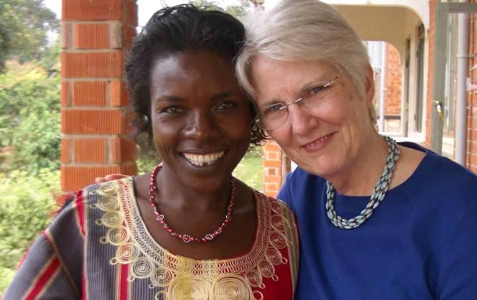 Connie with Namakasa Rose during her 2007 trip to Kampala