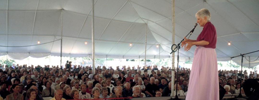 One of Connie Regan-Blake's performances at the National Storytelling Festival