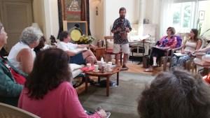 Doug Elliot presents at Connie's workshop