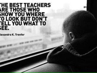 Самые лучшие учителя те, которые показывают вам, куда смотреть, но не говорят, что увидеть. Александра К. Тренфор