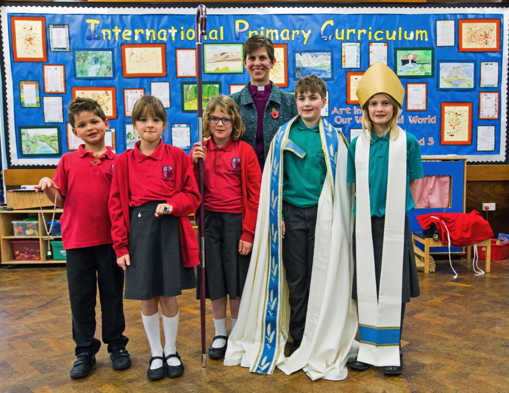 Bishop Libby visits our parish church and schools