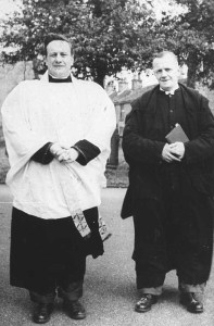 with verger Harry Holland 1958