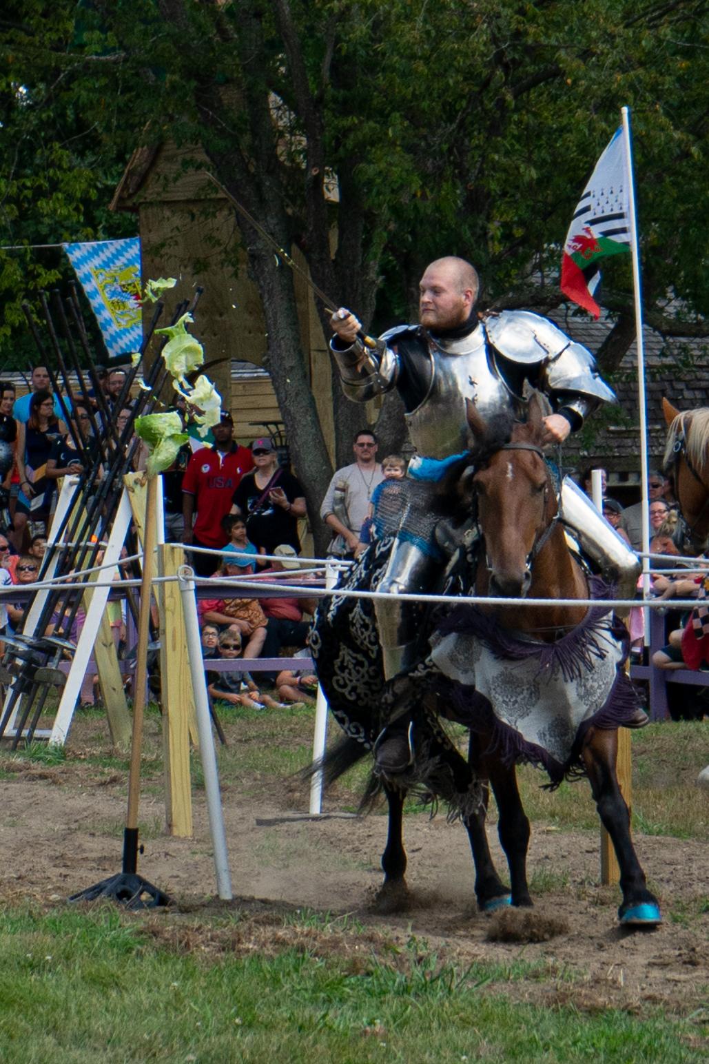 A knight at the Holly Renaissance Festival