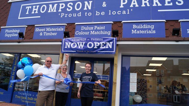 L to R: Thompson & Parkes Directors, Gary Wells, Jean Morris and Stourport Manager Nikki Shipton