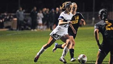 UW-Stout Women's Soccer Team faced off against Gustavus Adolphus in a tough fought 2-1 loss on Wednesday October 19th 2016 / UW - Stout Sports Information Photo