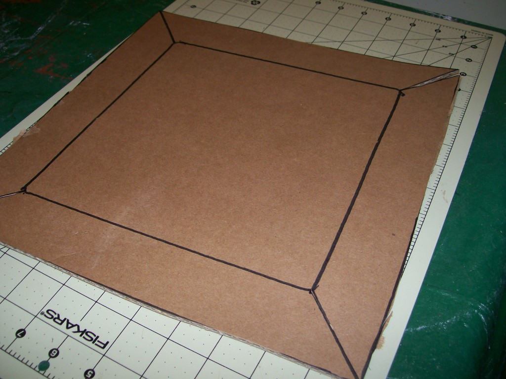 Cut Off Excess Cardboard Up To The Outside Line, With Either A Rotary  Cutter Or Box Cutter And A Ruler Or Straight Edge.