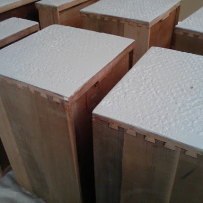 How to Apply Plaster Texture to Drawer Fronts with Joint Compound