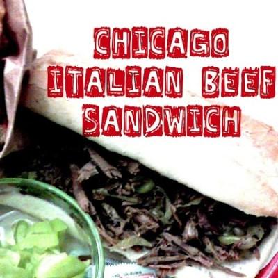 The Chicago Italian Beef Sandwich (in a Crock pot)