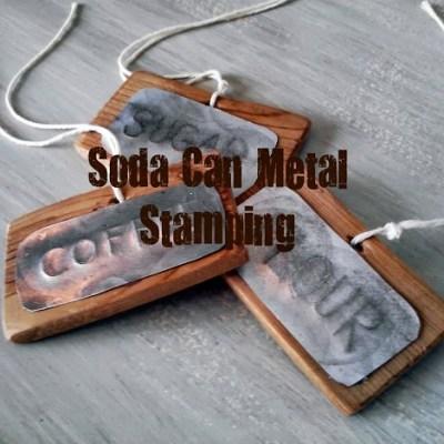 DIY Soda Can Metal Stamping