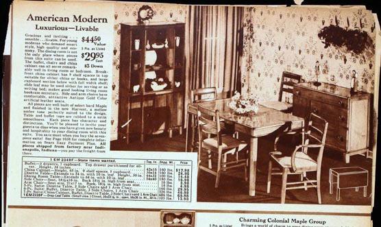 1940 Sears Roebuck Ad Maple Buffet