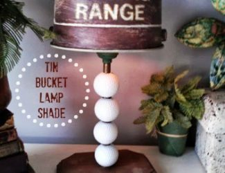 StowandTellU - tin bucket lamp shade