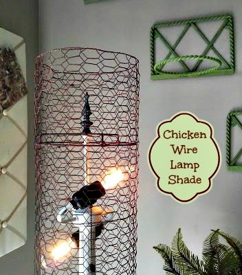 DIY Chicken Wire Lamp Shade