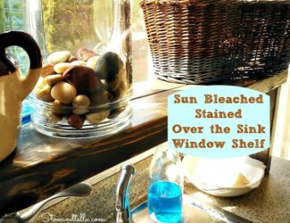 sun bleach and weather stained over the sink window shelf - StowandTellU.com