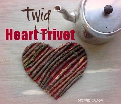 Valentine Twig Heart Trivet