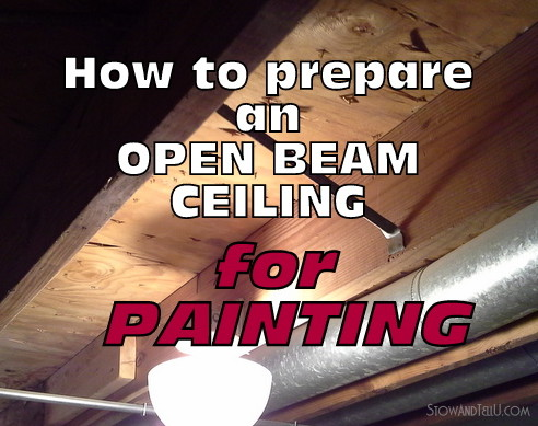 5 tips on How to Prepare an Open Beam Ceiling for Painting