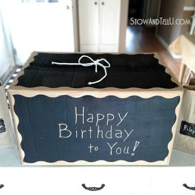 Chalkboard Painted DIY Gift Box {LOL}