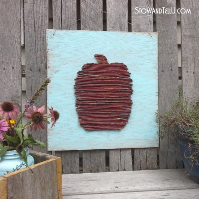 DIY Twig Pumpkin with Late Summer Color