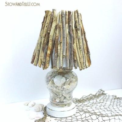 Coastal Inspired DIY Twig Lamp Shade