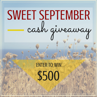 How Sweet it is $500 Cash Giveaway {And a Few Random Tips}