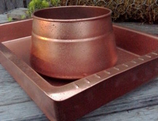 Easy-faux-hammered-copper-paint-technique, www.stowandtellu.com
