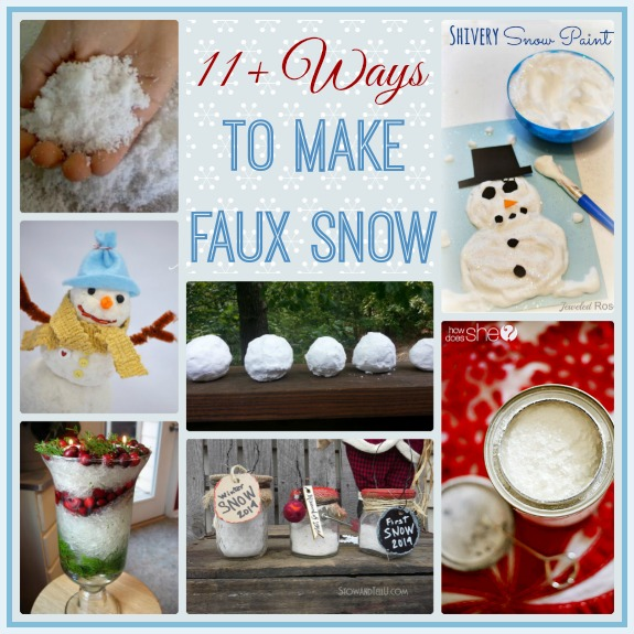 11 Ways To Make Your Own Faux Snow Stowtellu