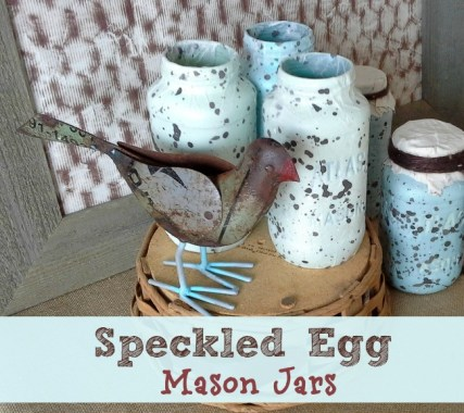 Speckled-Egg-Decoupage-Texture-on-Mason-Jars-StowandTellu