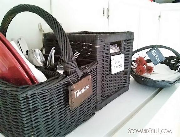 Chalkboard Painted Storage Baskets | stowandtellu.com