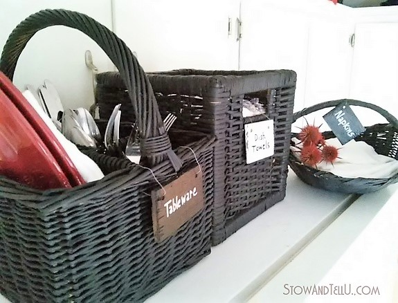 Chalkboard Painted Storage Baskets | stowandtellu.com