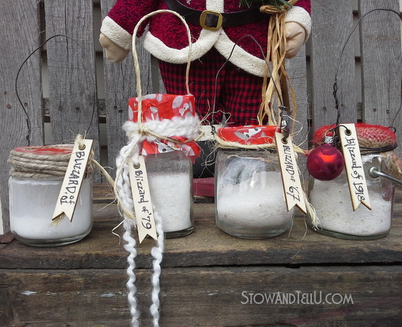 Snow in a Jar Ornaments | Christmas craft kids love to make with faux snow | http://www.stowandtellu.com