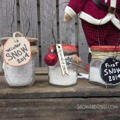 Keepsake (Faux) Snow in a Jar Ornament
