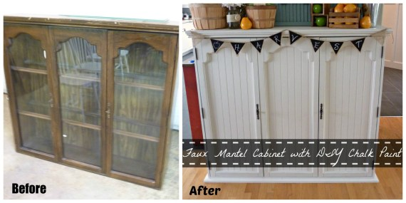 diy-faux-mantel-from-china-cabinet-happyhousie
