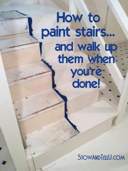 Lighting Basement Washroom Stairs: Fast Way To Paint Stairs And Not Get Trapped Up Or Downstairs
