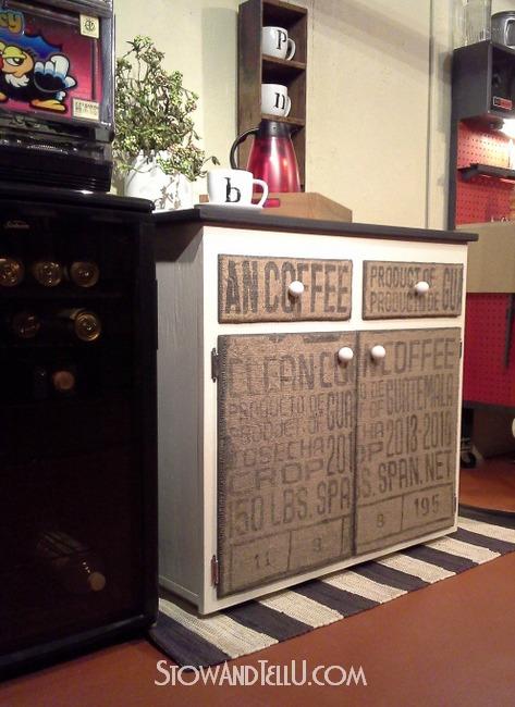 burlap-decoupaged-cabinet-http://www.stowandtellu.com