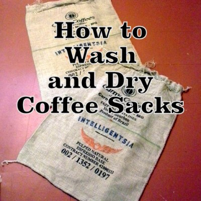 How to Wash Coffee Sacks and Not Ruin Them in the Process