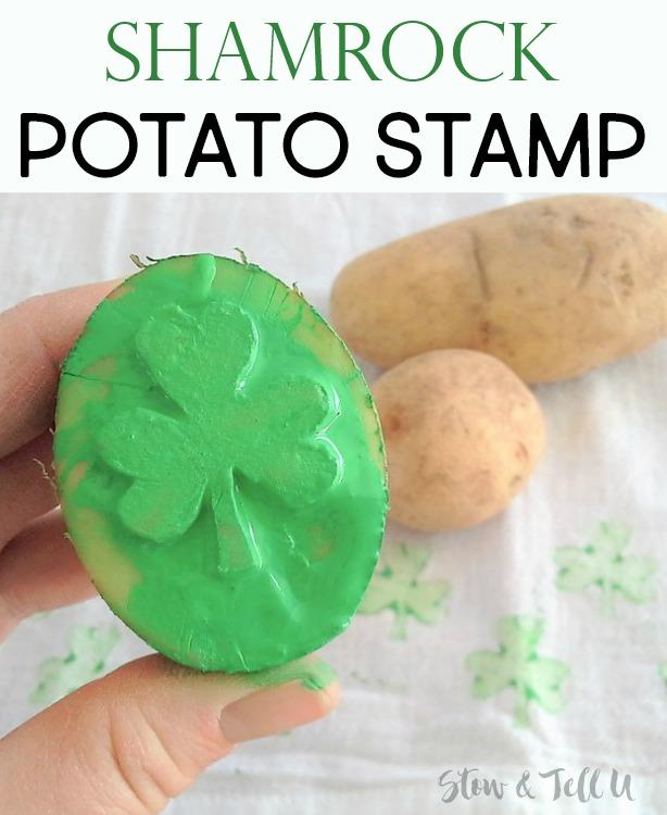 Shamrock potato stamp