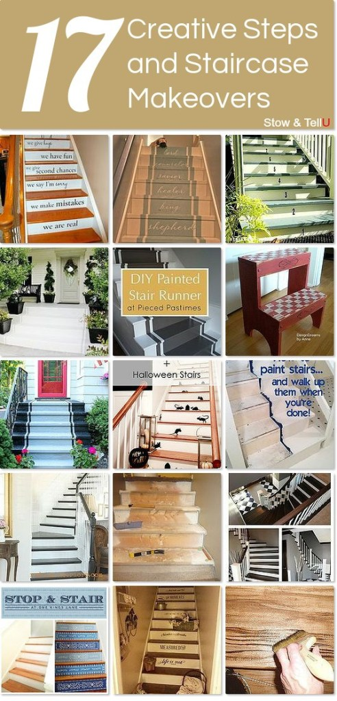painted basement stairs. Unique Painted Creativepaintedstairsideashttpwwwstowandtellu Intended Painted Basement Stairs